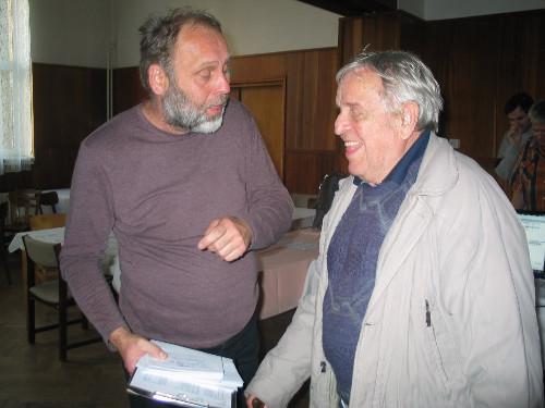Ředitel turnaje s nejstarším účastníkem Františkem Vykydalem.
