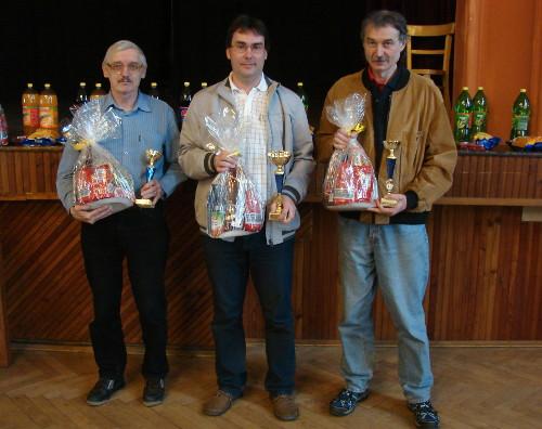 Tři nejlepší hráči turnaje (autor: Miroslav Osouch)