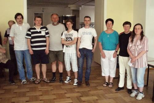 Boskovice skončili druhé! Zleva: Boháček, Ševčík, Hubený, Dvořáček, Dobeš a organizátoři Kubáčková, Slepánek, Slepánková.